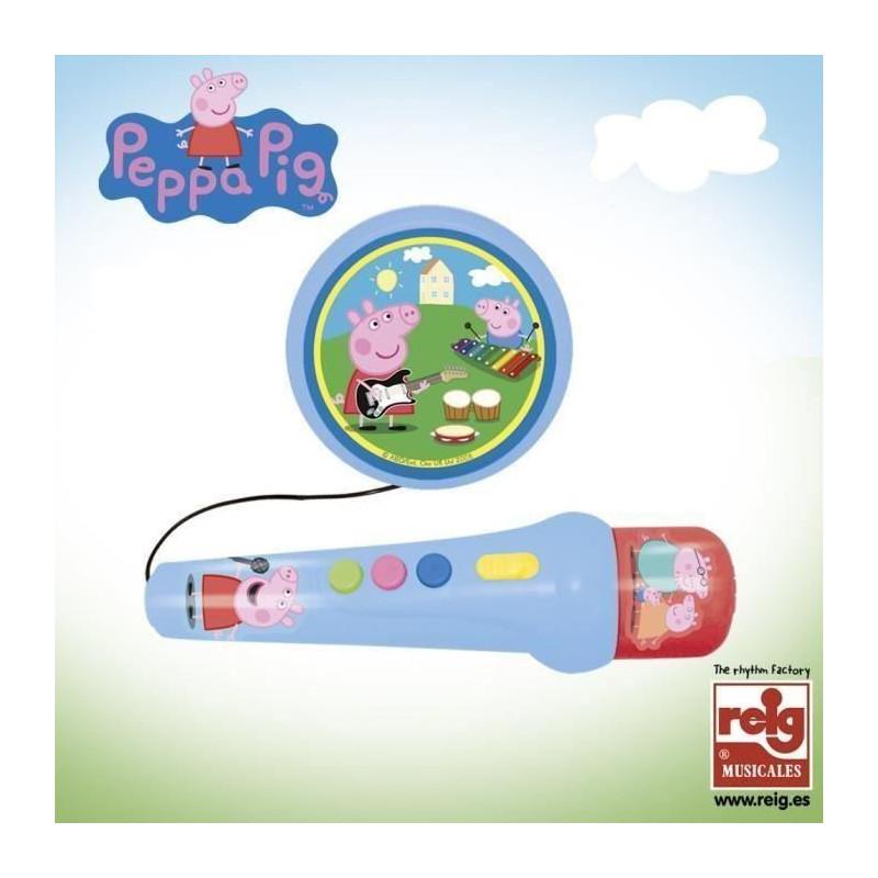 PEPPA-PIG-Micro-a-Main-avec-Ampli-et-Rythmes miniature 2