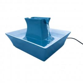 DRINKWELL Fontaine en céramique Pagoda - Bleu - Pour chat et chien