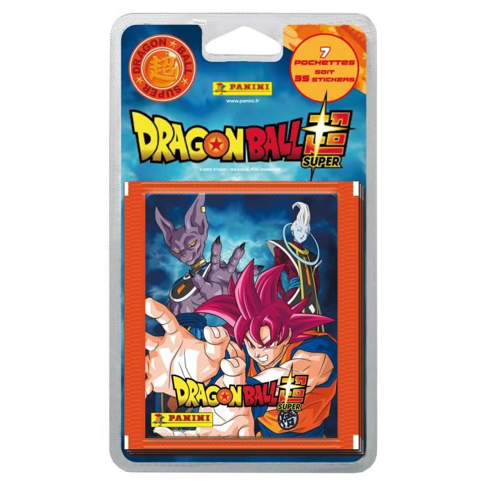 2073a029dce5f DRAGON BALL SUPER Blister 7 Pochettes de 5 Stickers - leader-discount.com