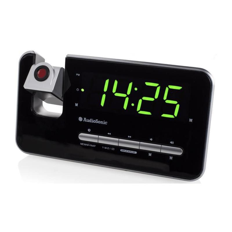 AUDIOSONIC CL-1492 Radio-réveil projecteur