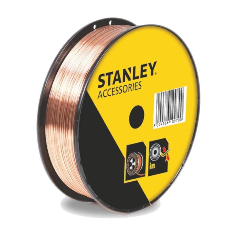 STANLEY 460618  Bobine fil acier pour soudure MIG/MAG sans gaz - Ø 0,8 mm - 0,9