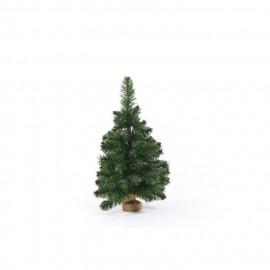 Sapin de Noël artificiel en PVC et ciment - 60 cm - 97 branches - Vert - Avec pied