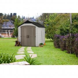 KETER Abri de jardin Montofort 759 - En résine - 5,25 m² - Gris clair