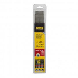 STANLEY 460725  Lot de 11 électrodes rutiles acier - Ø 2,5 mm - L 350 mm - Baguettes de soudure