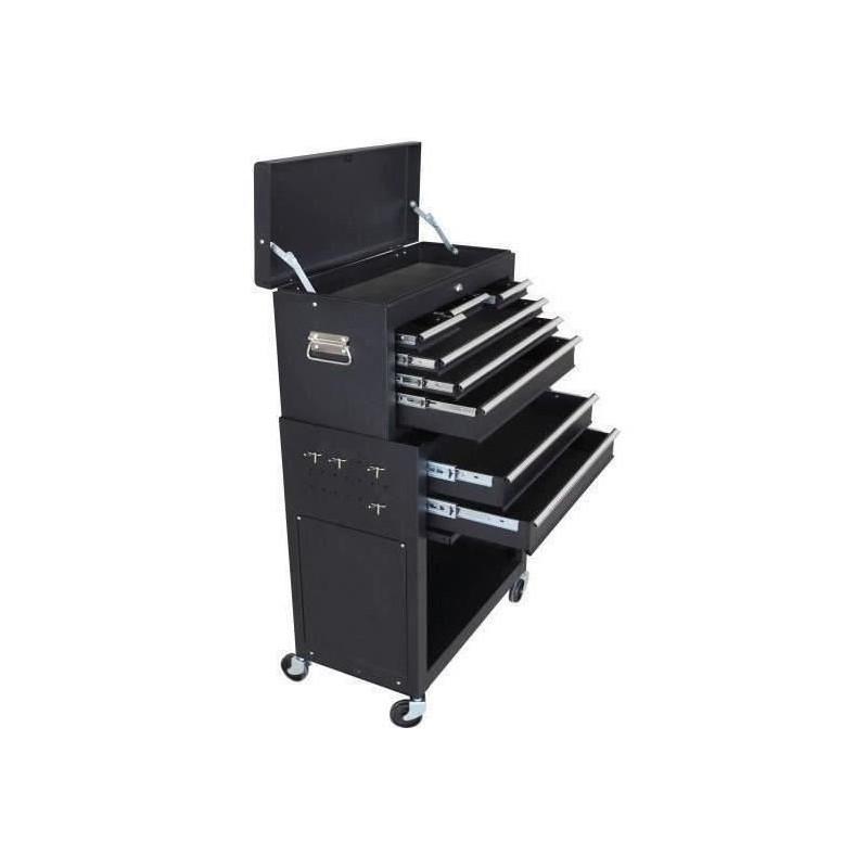 MANUPRO-Servante-d-039-atelier-a-outils-8-compartiments-Coffre-malle-rangement-amo