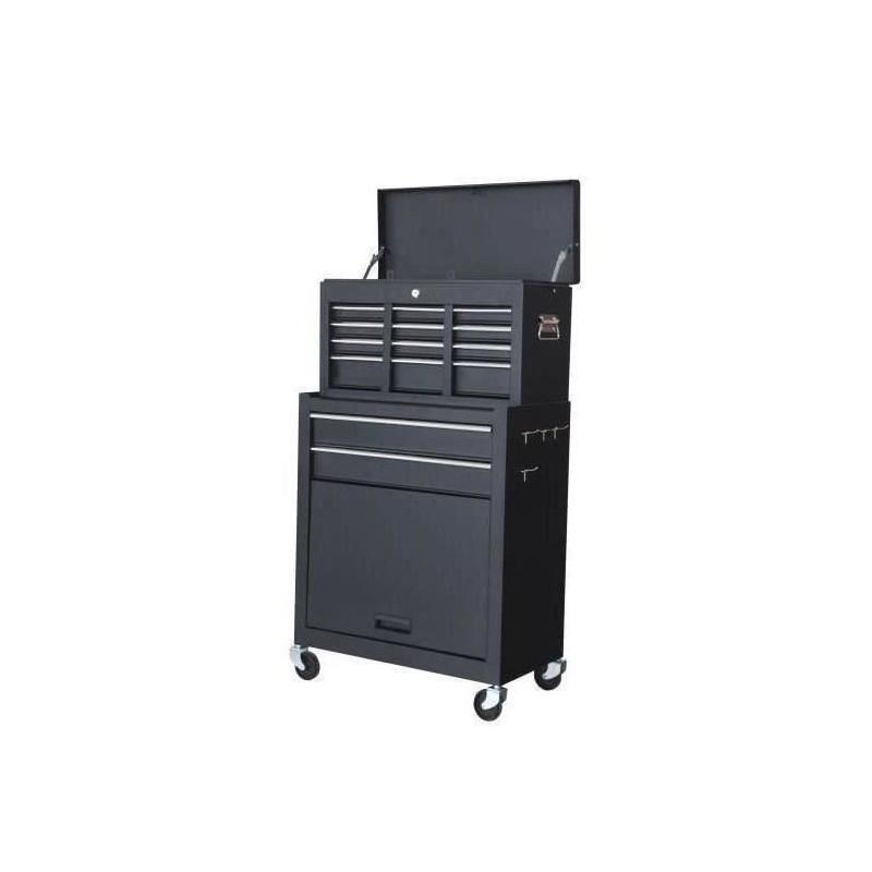 MANUPRO-Servante-d-039-atelier-a-outils-8-compartiments-Coffre-malle-rangement-amo miniature 2