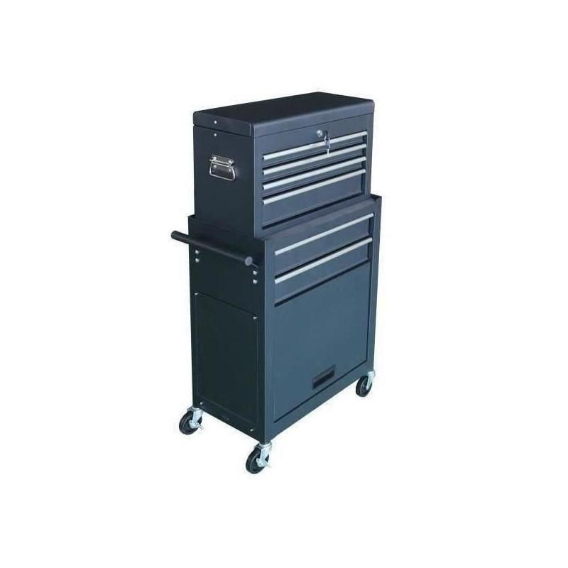 MANUPRO-Servante-d-039-atelier-a-outils-8-compartiments-Coffre-malle-rangement-amo miniature 3