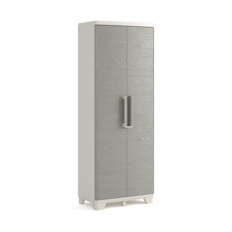 KETER-Armoire-haute-de-rangement-Wood-Grain-Texture-bois-2-portes-3-eta