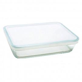 PYREX - 242P000/7046 - Plat rectangulaire avec couvercle - 22cm * 17 cm - Pyrex Cook & Freeze