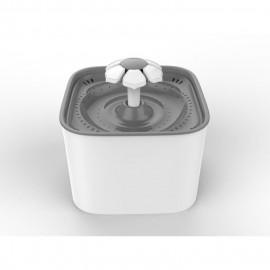 Fontaine a eau BLOOM - Contenance 2 litres - Blanc et vert - Pour chat