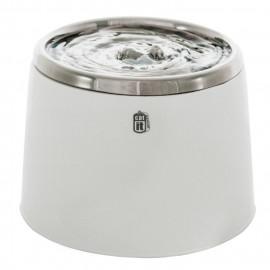 CAT IT Abreuvoit avec dessus en acier inoxydable - 2 L (64 oz liq.) - Blanc et gris - Pour chat
