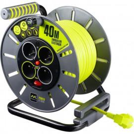 MASTERPLUG Enrouleur de bricolage 40 m câble H05VV-F 3G1,5 avec disjoncteur thermique