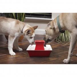 DRINKWELL Fontaine en céramique Pagoda - Rouge - Pour chat et chien