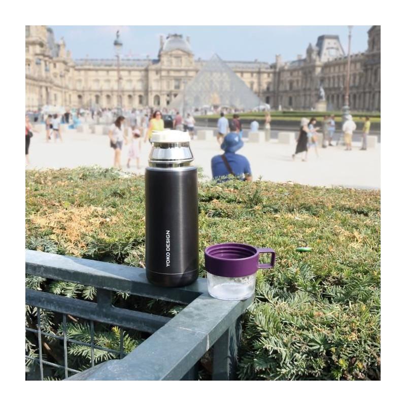YOKO-DESIGN-Thermo-Mug-avec-tasse-Coloris-violet-350-ml miniature 2