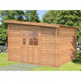 Abri de jardin Labeaume BNDIP - Forme rectangulaire - 300 x 250 cm - Porte double - Sapin du Nord - Bois massif - Traité chen…