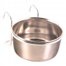 TRIXIE Ecuelle inox avec support - 300ml - Ø9cm - Pour perroquet et perruche
