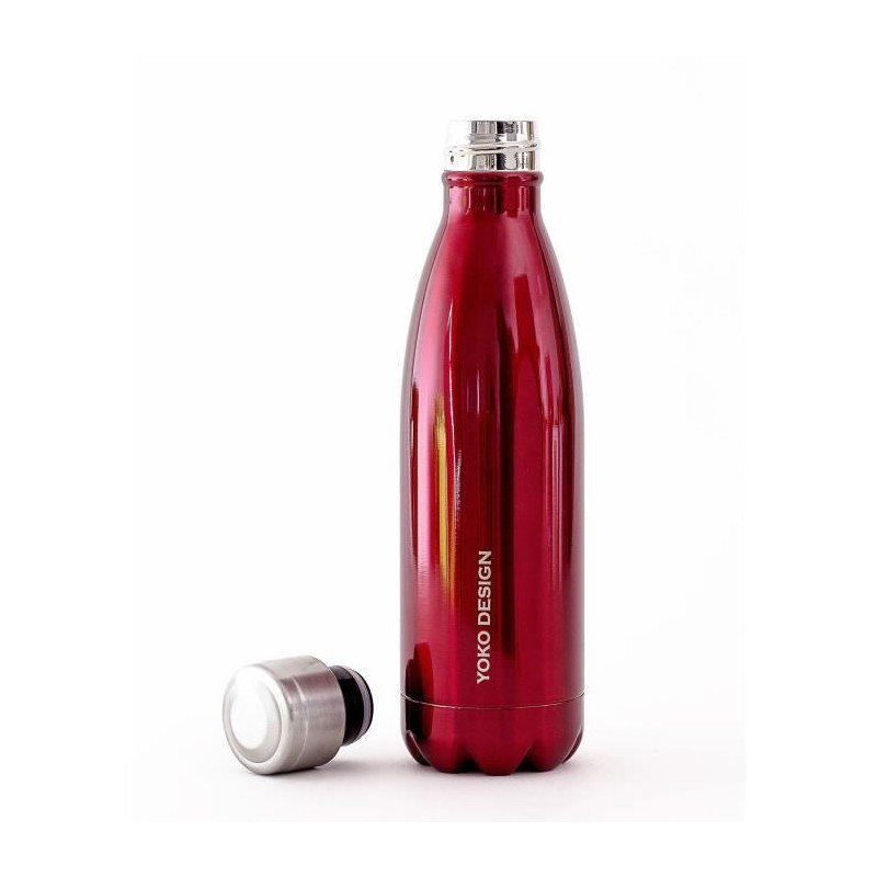 YOKO-DESIGN-Bouteille-isotherme-double-paroi-500-ml-rouge-brillant miniature 3