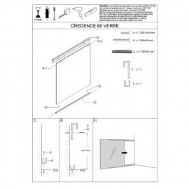 Crédence en verre de 5mm d'épaisseur - Transparent - 60x45cm