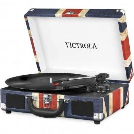 VICTROLA Platine Vinyle Valise Vintage portable Bluetooth - UK Flag