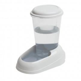 FERPLAST Distributeur d'eau Nadir 3L en plastique - 29,2x20,2x28,8cm - Blanc - Chien et chat