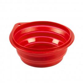 DUVO Gamelle de voyage en silicone - 250 ml - 11 cm - Rouge - Pour chien