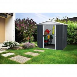 YARDMASTER Abri de jardin en métal 8,48 m² - Gris anthracite