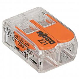 WAGO Pack de 50 Bornes de connexion universelle tous conducteurs -Type 221/2 entrées