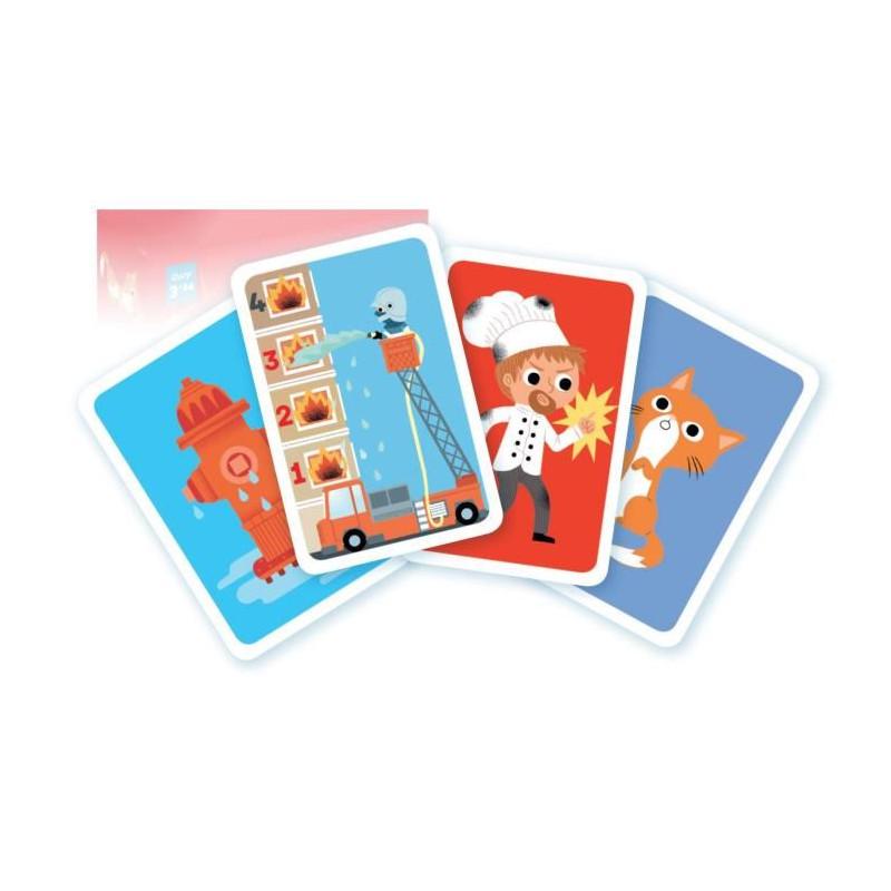 NATHAN-Au-feu-les-Pompiers-Jeu-de-Cartes miniature 3
