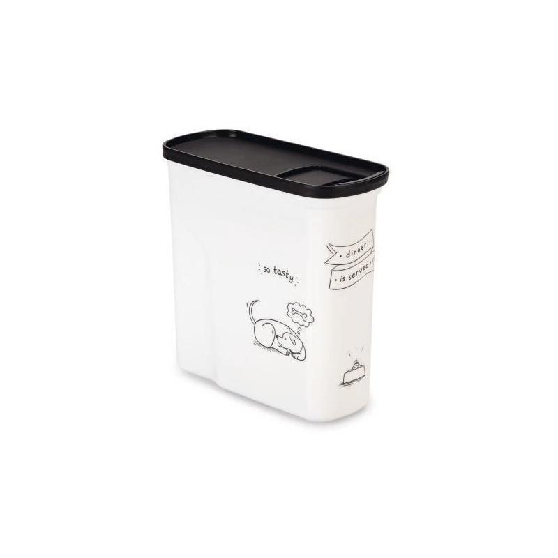CURVER-Conteneur-de-nourriture-Le-Diner-est-servi-1-kg-2-L-Blanc-et-noir