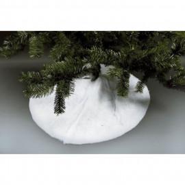Robe de sapin neige en mousse en polyester - Ø 90 cm - Blanc