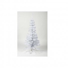 Sapin de Noël artificiel - H 90 cm - 80 branches - Blanc colorado - Avec pied plastique
