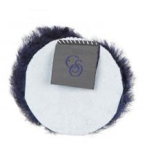 C.S.O Rond de muserolle croisée en mouton véritable pour cheval - Marine