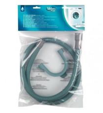 Wpro TVS154 - Tuyau de vidange droit / droit 1,5 m - livré avec crosse