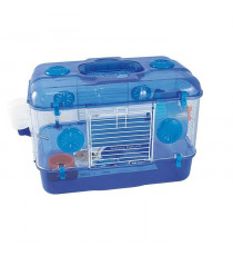 DUVO Cage Timmy One Level Deluxe - 39x26x28 cm - Bleu - Pour rongeurs