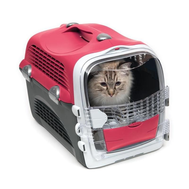 CAT-IT-Cage-de-transport-Cabrio-Rouge-cerise-Pour-chat miniature 3