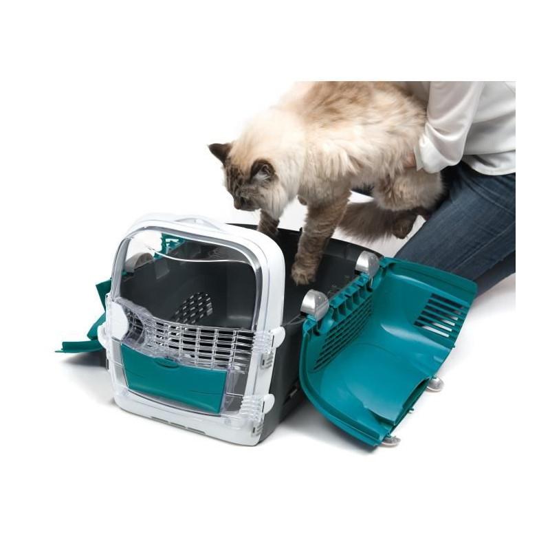CAT-IT-Cage-de-transport-Cabrio-Bleu-turquoise-Pour-chat