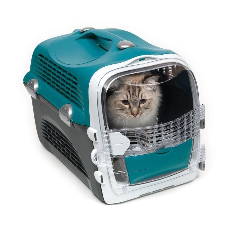 CAT-IT-Cage-de-transport-Cabrio-Bleu-turquoise-Pour-chat miniature 3