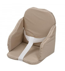 TINEO Coussin de chaise PVC a sangles - Taupe
