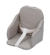 TINEO Coussin de chaise PVC a sangles - Gris