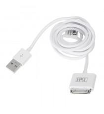 TNB Câble USB 2.0 M vers Dock pour recharger et synchroniser Iphone - 1m50 - Blanc