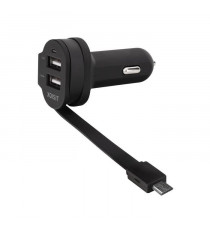 XQISIT Chargeurvoiture Dual Charge 6A micro USB