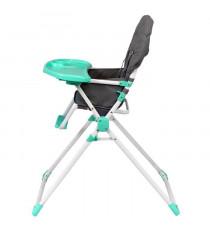 BAMBIKID Chaise Haute Fixe Gris Vert Anis
