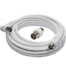 CONTINENTAL EDISON Câble coaxial antenne - 5m