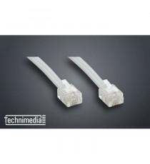 TECHNIMEDIA 9139TM04 Câble RJ11 Haut-Débit ADSL - 10 m - Blanc