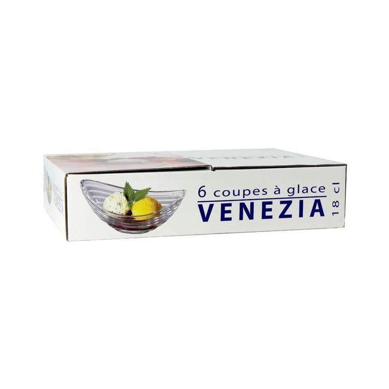 RECEPTION-1611535-Lot-de-6-coupes-a-glace-en-verre-Venezia-18cl miniature 2