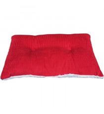 Coussin MENUIRES 30x50cm - 100% Polyester - Rouge