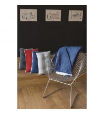 Coussin MENUIRES 30x50cm - 100% Polyester - Bleu Prusse