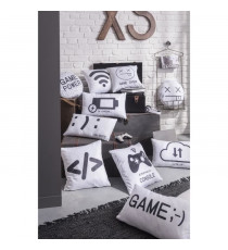 TODAY Coussin Geek Game Happy/Unhappy - 30 x 50 cm