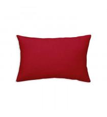 TODAY Coussin déhoussable 100% coton - 30 x 50 cm - Rouge pomme d'amour