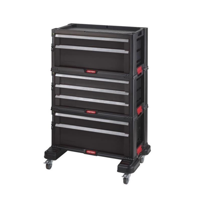 KETER-Servante-a-outils-7-tiroirs-Modulable-avec-verouillage-centralise-60-x